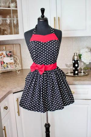party girl apron with red belt