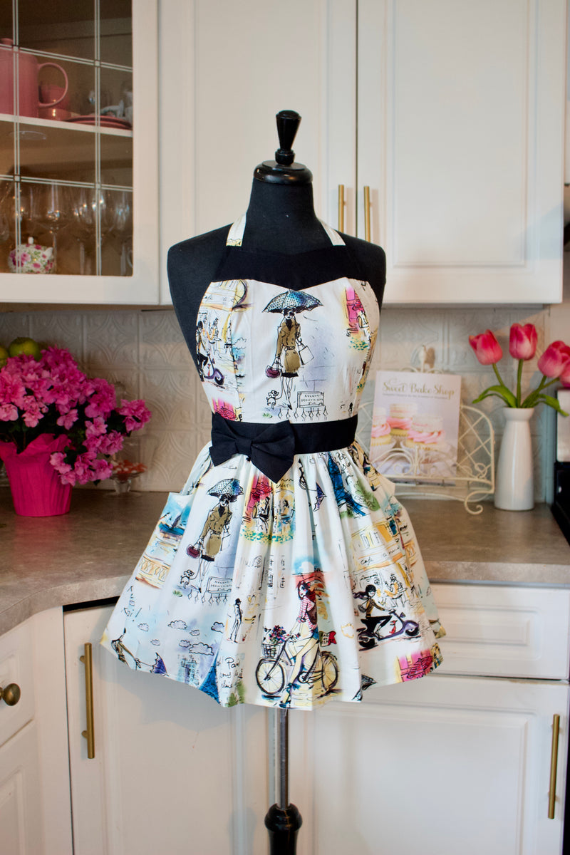 Party Girl apron pretty in paris black