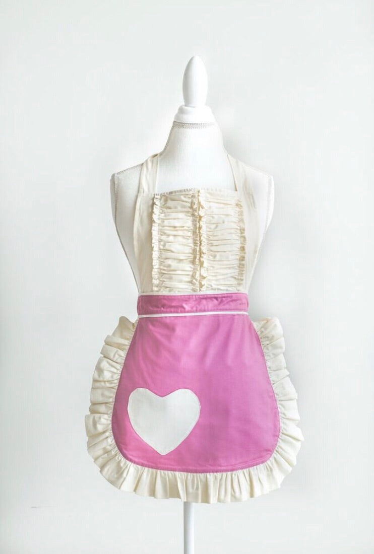 Beautiful vintage apron in pink (spring Vibes)