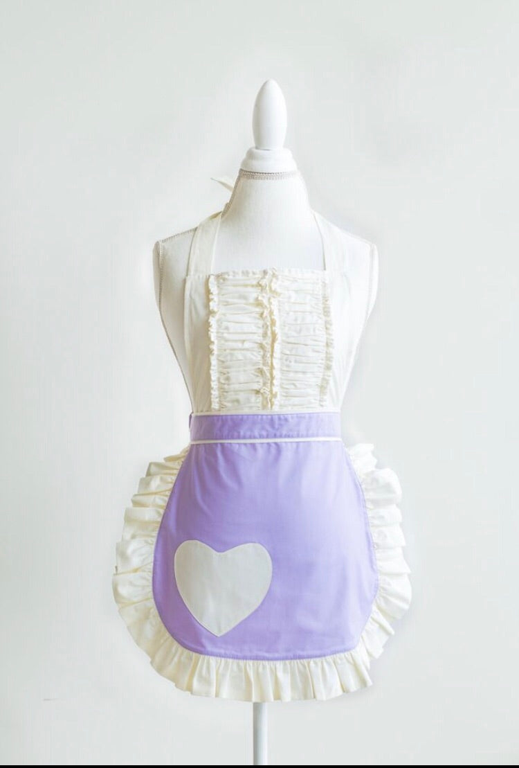 Beautiful Vintage Apron in lilac (spring vibes)