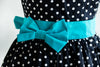 A Party Girl Apron with Teal Sash