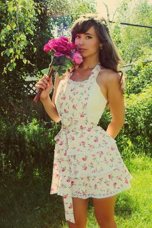 Stop and Smell the Rosé Apron (spring vibes)