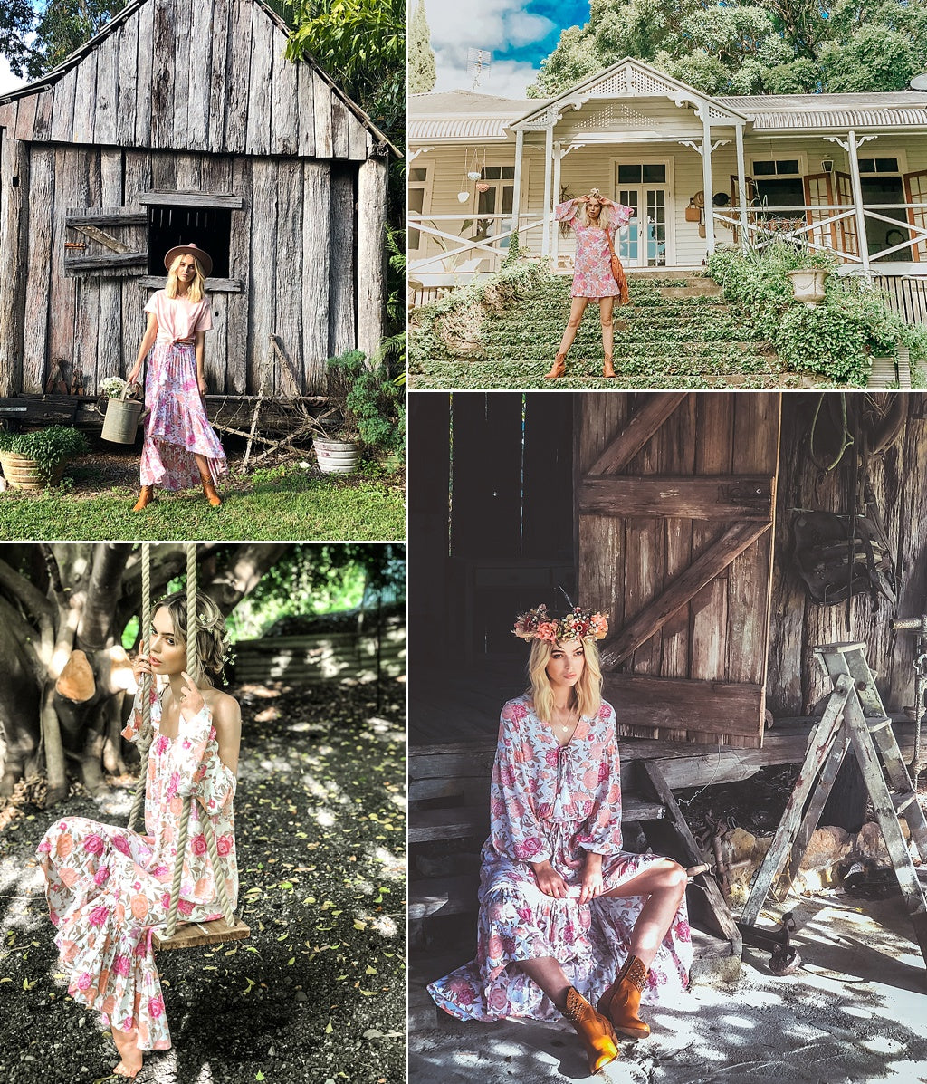 vintage rose bohemian clothing collection