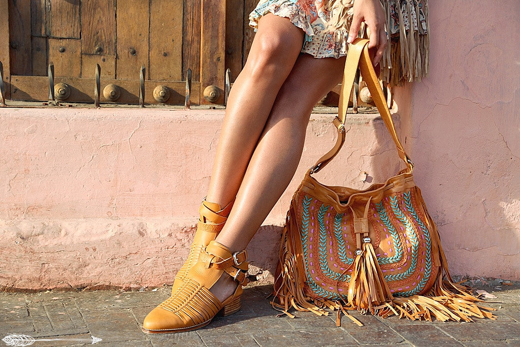 bohemian leather bags