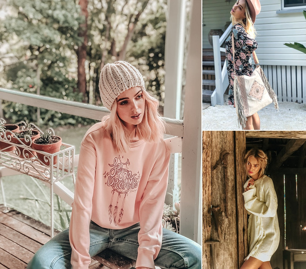 bohemian clothing vintage rose