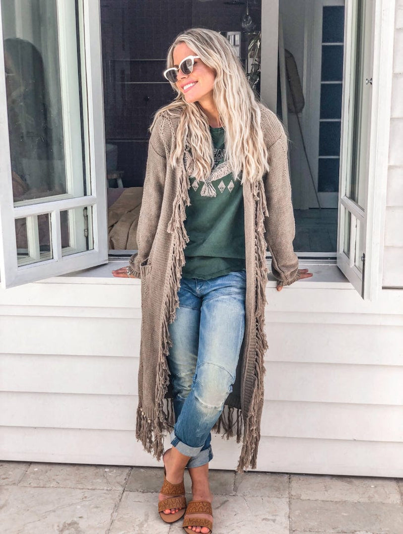 Arizona Knit Shaggy Cardigan