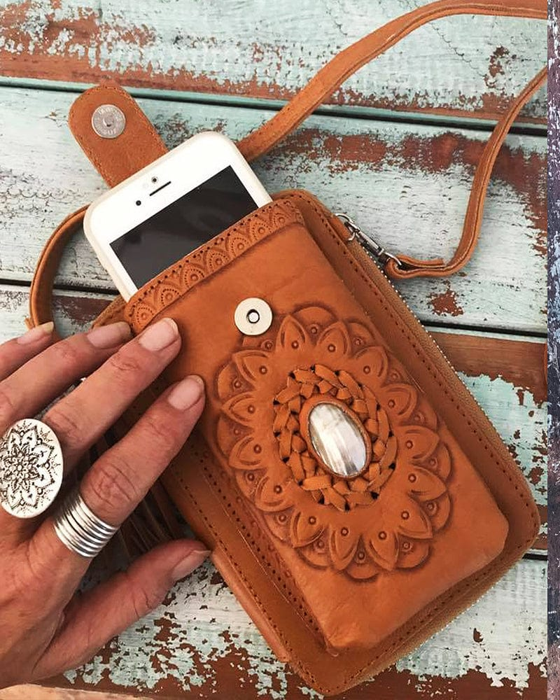 leather boho phone case