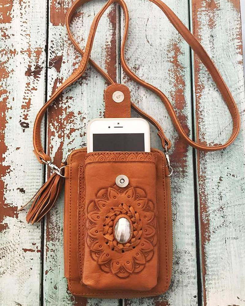 leather phone bag