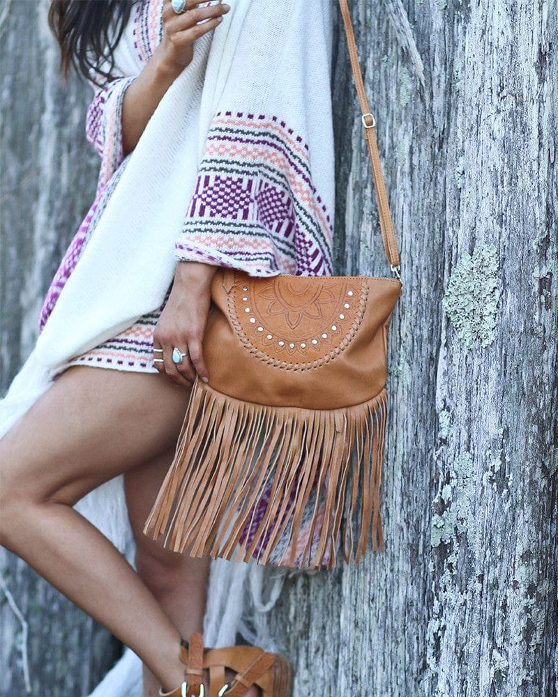 tan leather clutch australia