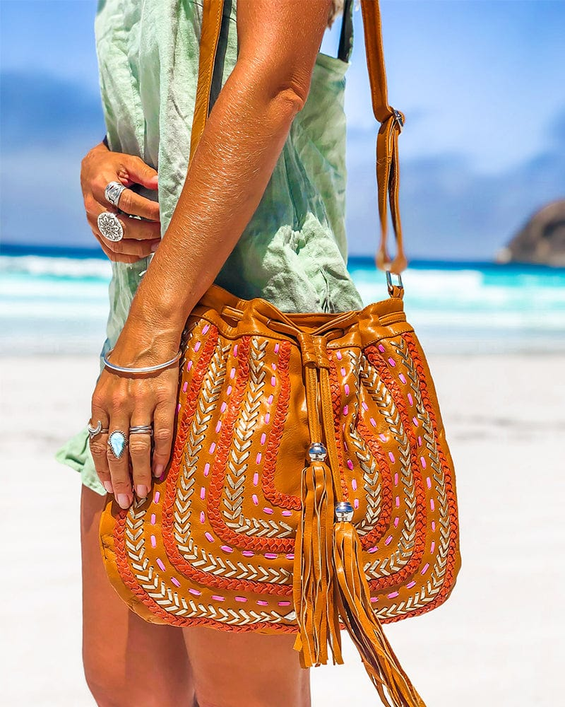 Dream Weaver Bag (Fringe free)- Summer Tan