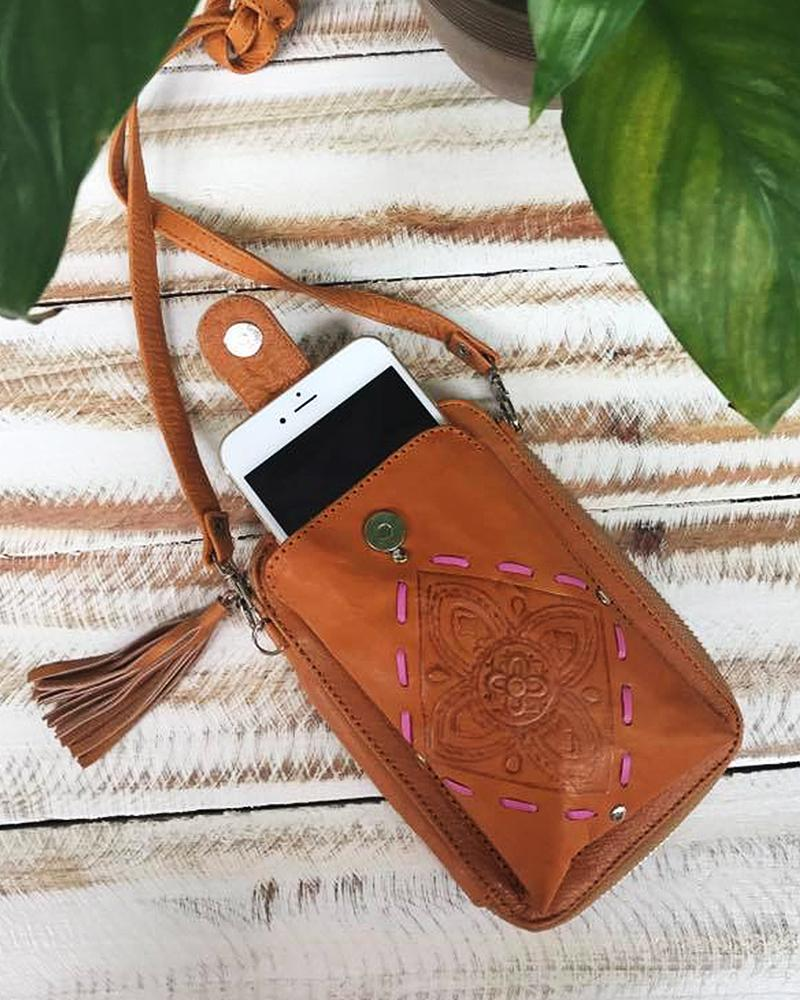 festival phone pouch
