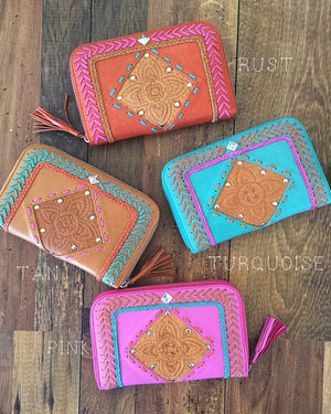 womens leather wallet brands