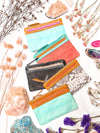 Azire Spring Leather Wallet - Pink / Turquoise / Tan