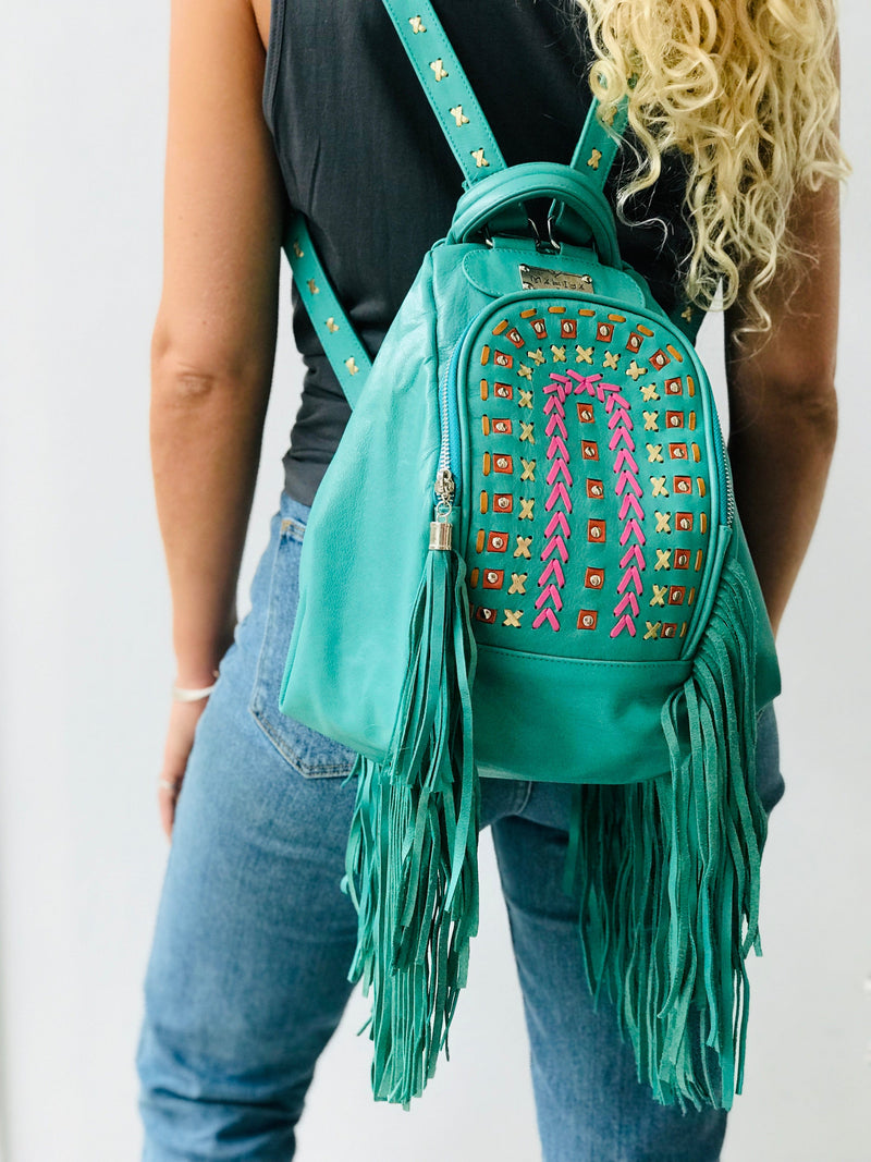 Chameleon Leather Backpack