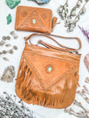 Harlow Fringed Bag & Harper Wallet Set - Tan