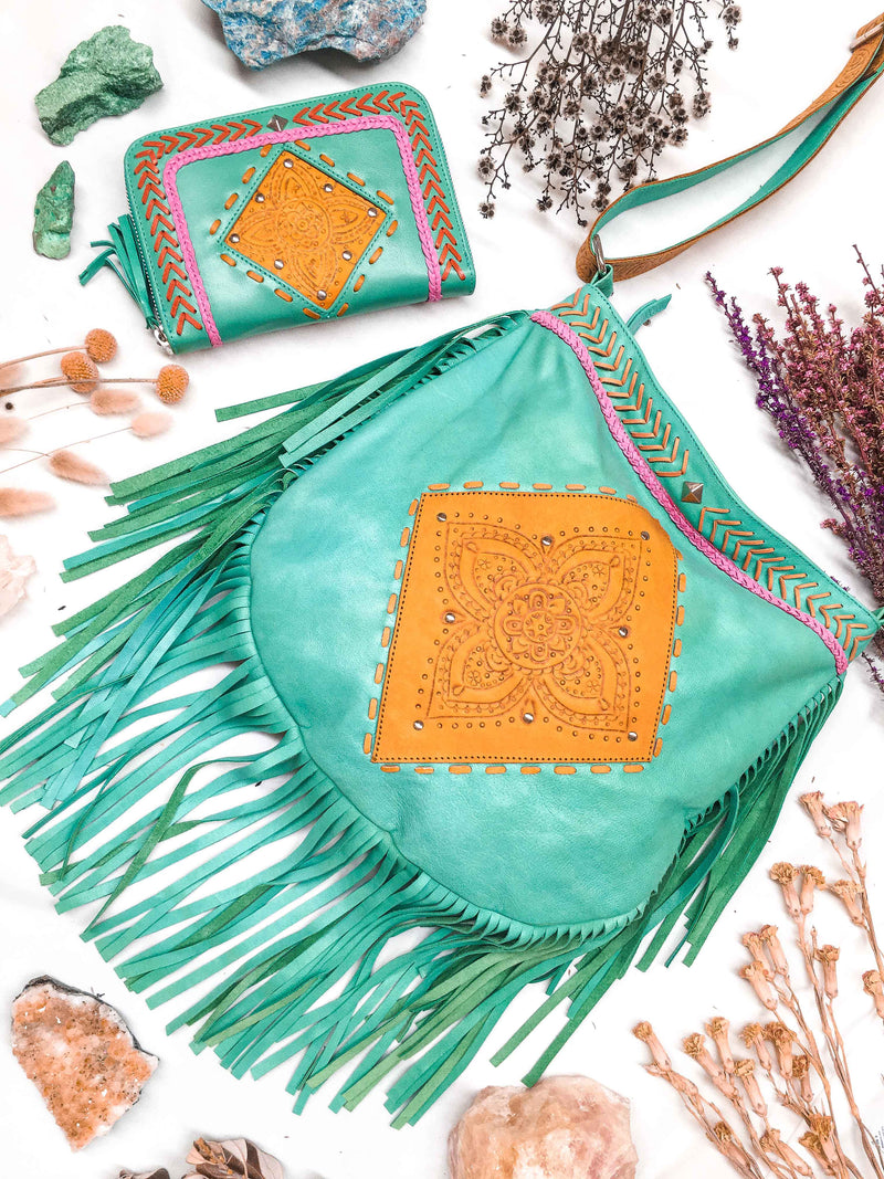 Capsize Bag & Gypset Wallet Set - Turquoise