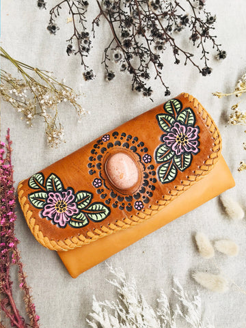 Primrose Wallet - Tan/Cream