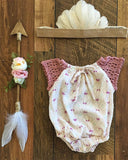 Little Gypsy Onesie - Berries and Cream 2