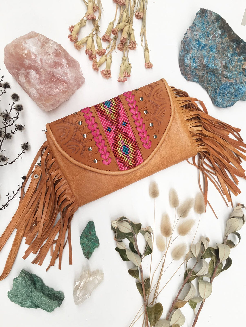 Bangalow Leather Clutch - MAHIYA EXCLUSIVE