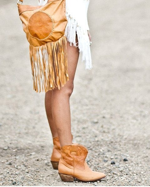 bohemian leather ankle boots
