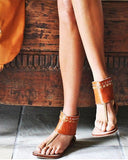 bohemian leather sandals