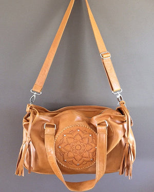 handmade leather baby bags