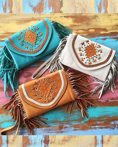 Wild Flower Fringe Wallet