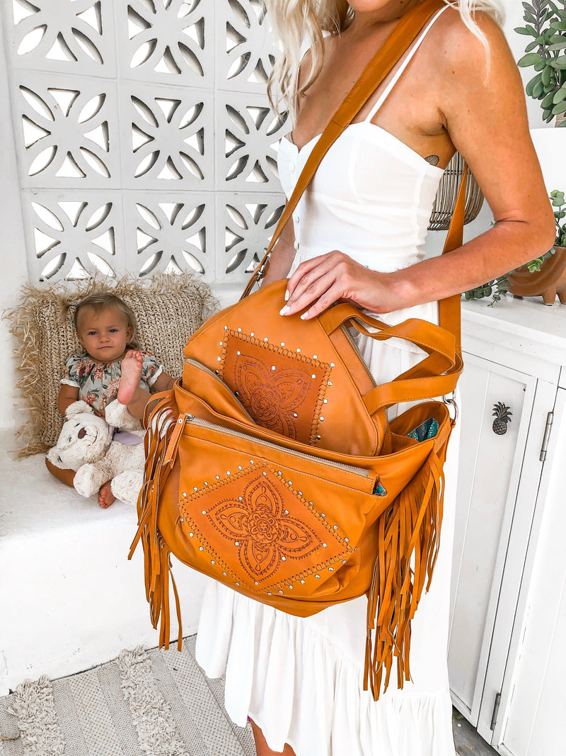 Little Wings Leather Baby Bag & Organiser