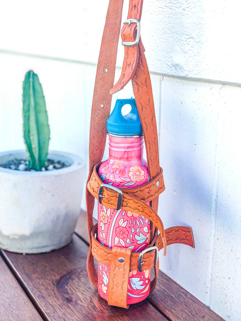 Agua Leather Drink Bottle Holder