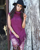 RIVIARA KNIT IN SMOKED BERRY FROM MAHIYA.