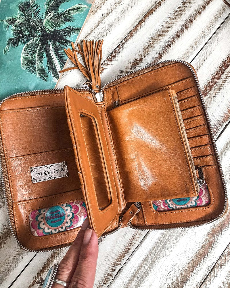 Golden Gypsy Wallet -Tan and Cream