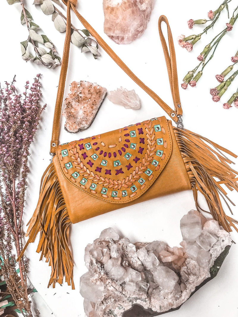 Sacred Leather Clutch