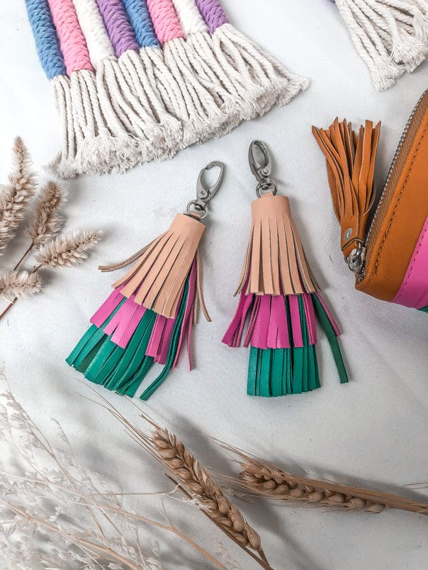 Tassel Rainbow Key Ring/ Bag Tassel
