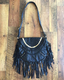 THE WILD FIRE LEATHER BAG IN BLACK. 3
