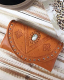 women's tan leather wallets