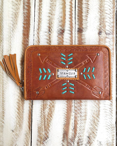 Sahara Wallet - Tan / Chocolate/ Cream