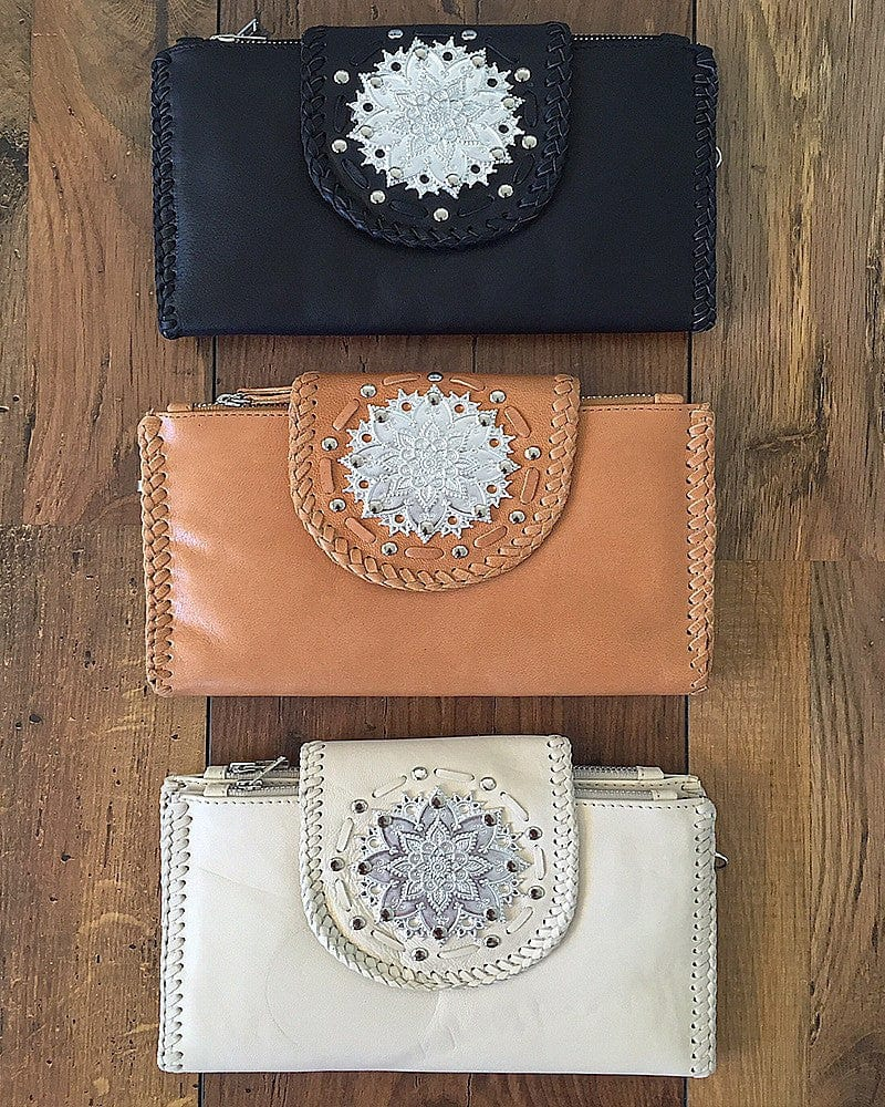 boho chic leather wallets