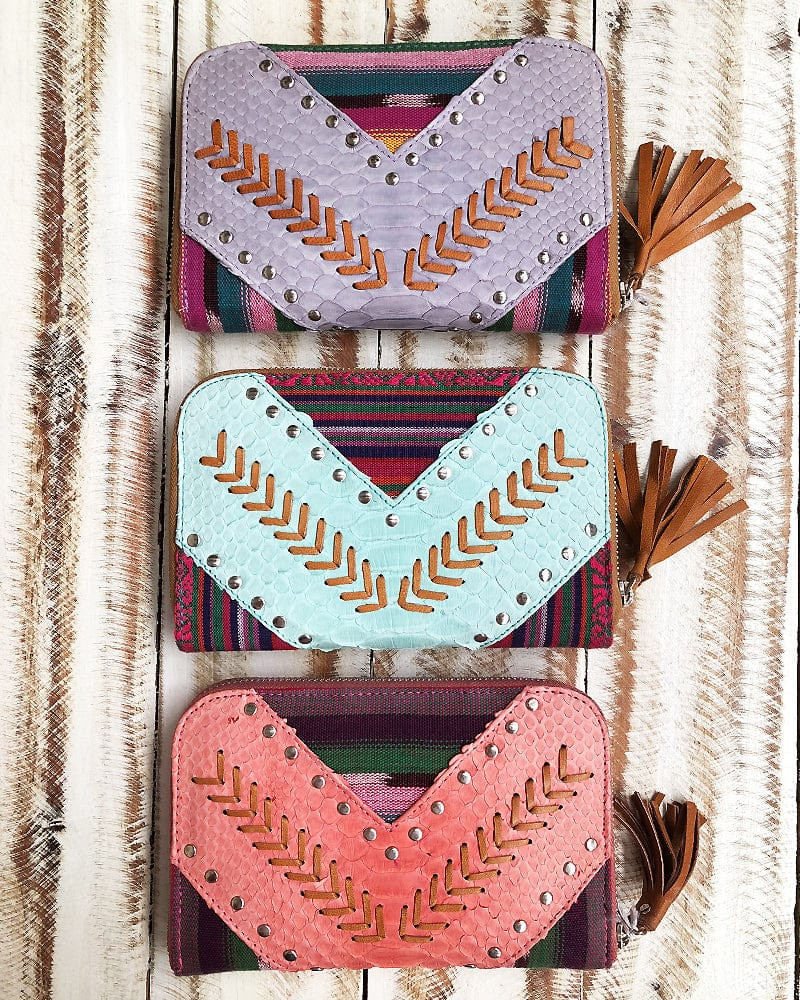 boho leather wallets
