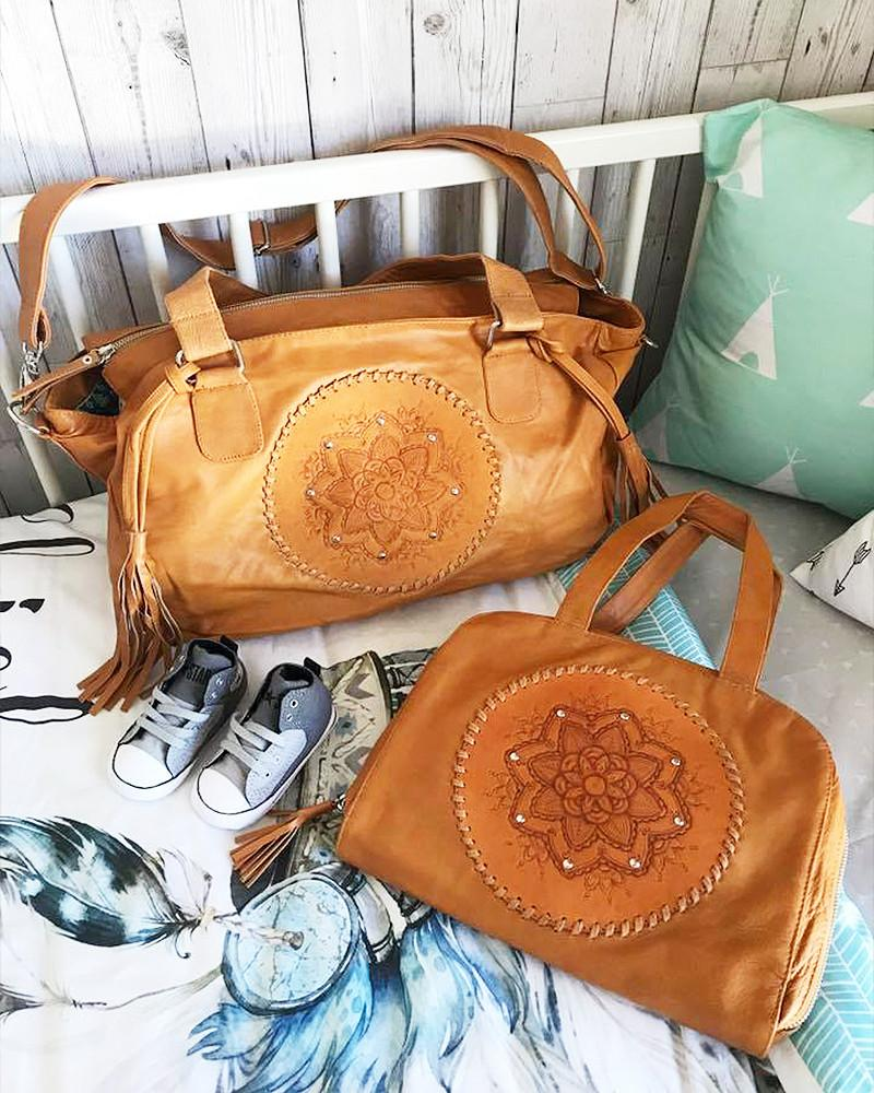 boho leather baby bags