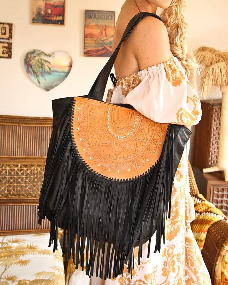 ophelia leather boho bag