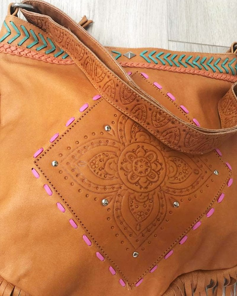 tan leather bag australia