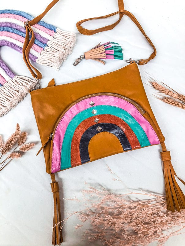 Chasing Rainbows Leather Bag