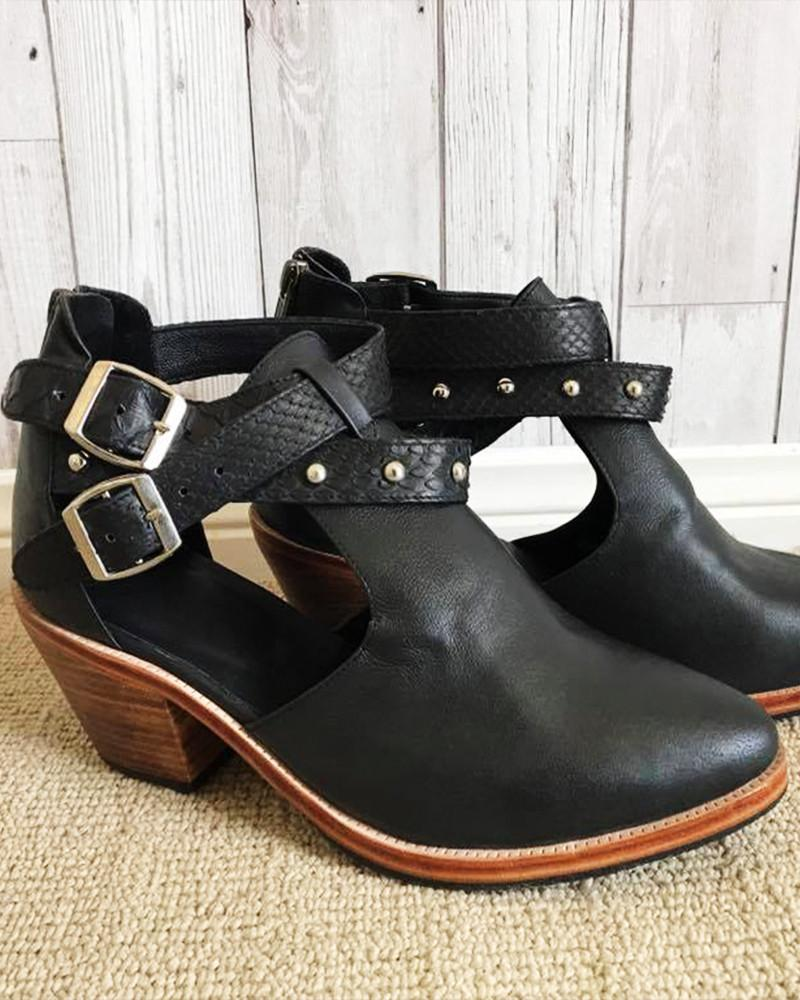 boho leather ankle boots