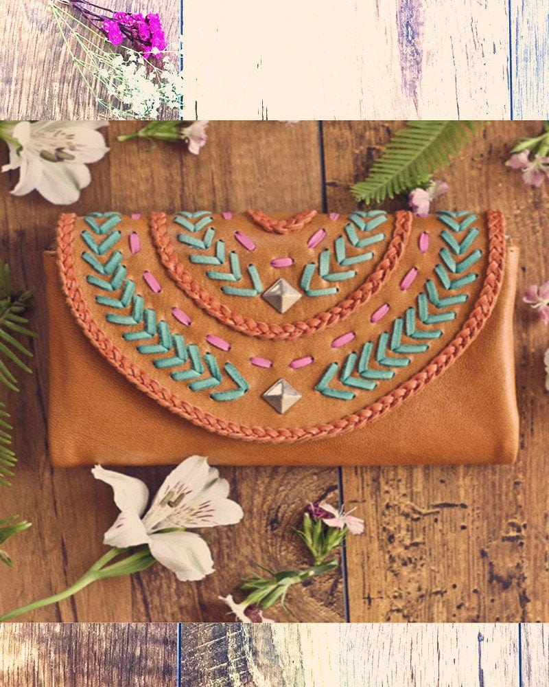 handmade boho leather wallets