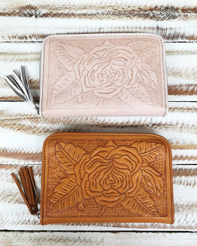Free Spirit Wallet - Tan / Cream