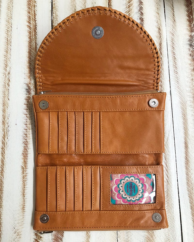 boho gypsy leather wallets