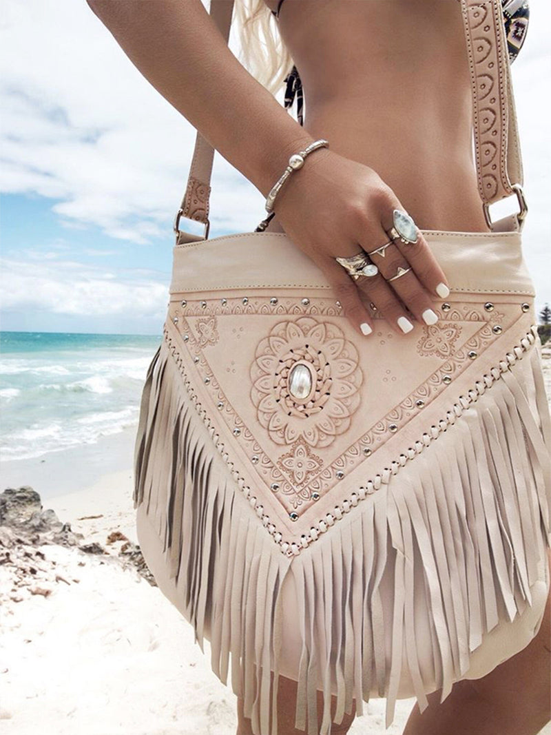 Harlow Bag - (Fringed) Cream