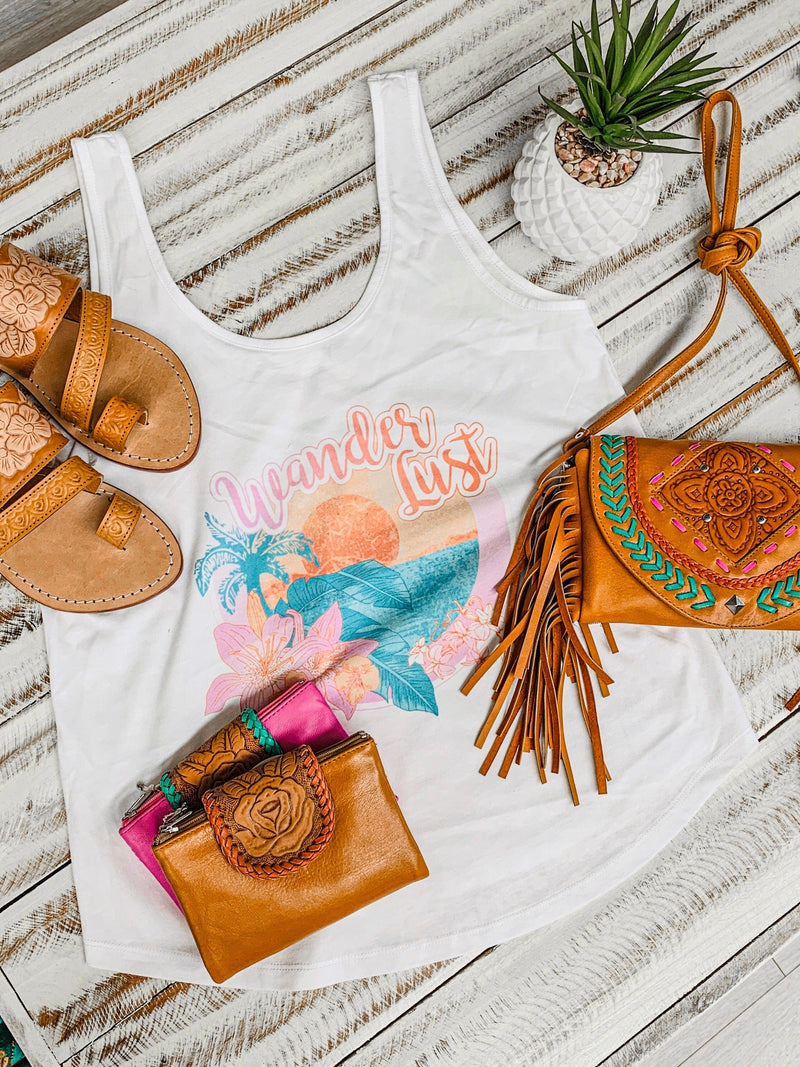 Wanderlust Sunset Organic Cotton Tank