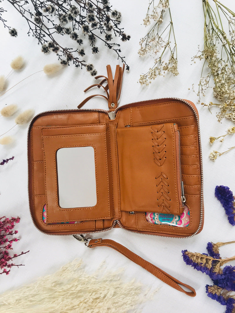Orissa Wallet -  Tan and Black