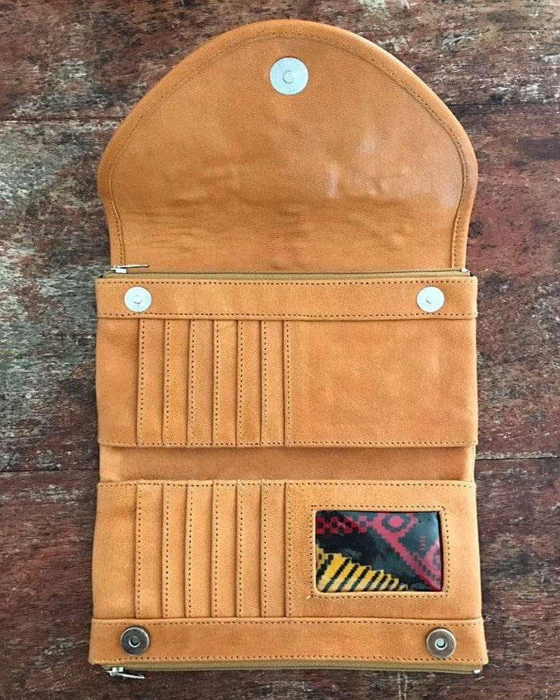 leather wallet with wings